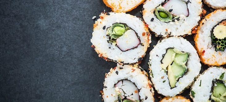 california-sushi-style-rolls-with-raw-vegetables-food-border-background